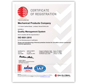 Mechanical Products ISO Certification